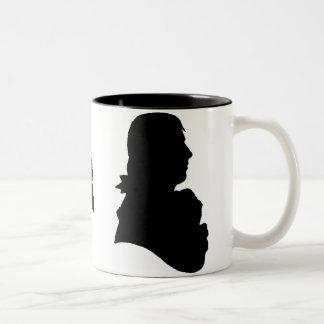 robert burns cameo Two-Tone coffee mug