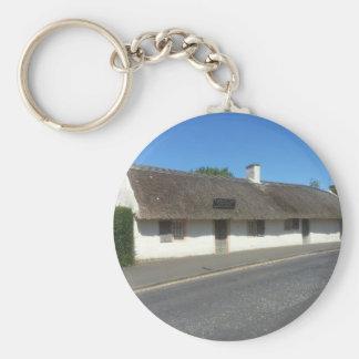Robert Burns Cottage, Alloway, Ayrshire, Scotland Basic Round Button Keychain