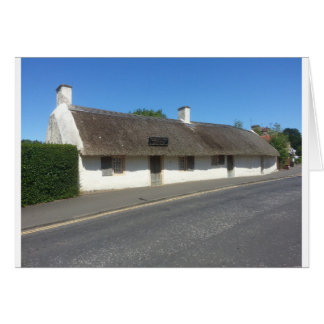 Robert Burns Cottage, Alloway, Ayrshire, Scotland Card