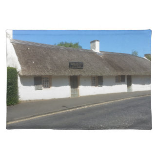 Robert Burns Cottage, Alloway, Ayrshire, Scotland Cloth Placemat