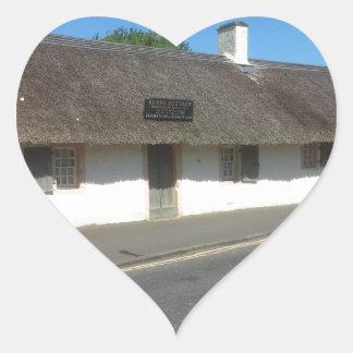Robert Burns Cottage, Alloway, Ayrshire, Scotland Heart Sticker