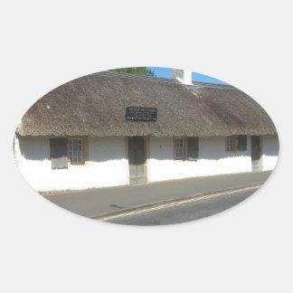 Robert Burns Cottage, Alloway, Ayrshire, Scotland Oval Sticker