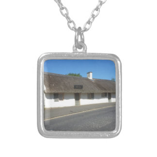 Robert Burns Cottage, Alloway, Ayrshire, Scotland Square Pendant Necklace