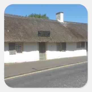Robert Burns Cottage, Alloway, Ayrshire, Scotland Square Sticker