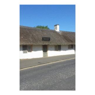 Robert Burns Cottage, Alloway, Ayrshire, Scotland Stationery Paper
