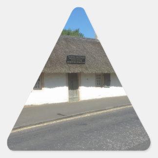 Robert Burns Cottage, Alloway, Ayrshire, Scotland Triangle Sticker