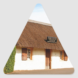 Robert Burns cottage, Alloway, Scotland Triangle Sticker