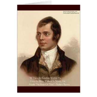 Robert Burns Famous Quote Card