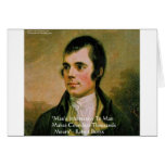 Robert Burns Famous Quote Greeting Card