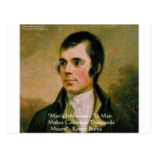 Robert Burns Famous Quote Postcard