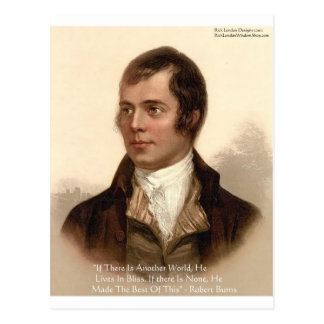Robert Burns Famous Quote Postcard