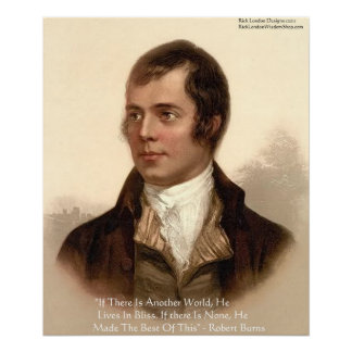 Robert Burns Famous Quote Poster
