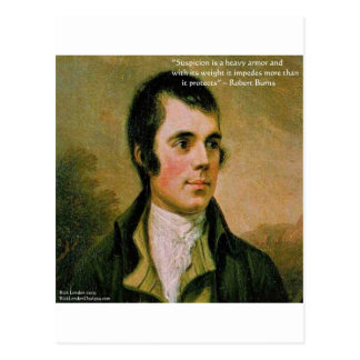 Robert Burns & Famous Suspicion Quote Postcard