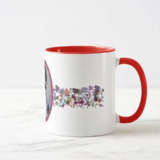 Robert Burns Scottish Thistle Flowers Art Mug