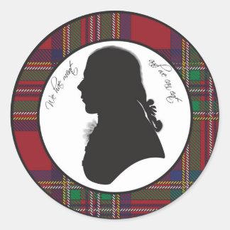 Robert Burns silhouette sticker