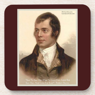 "Robert Burns ""To Know Her"" Love Quote Cork Coaster Beverage Coaster"