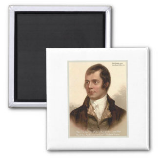 "Robert Burns ""To Know Her"" Love Quote Gifts & Tees 2 Inch Square Magnet"