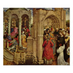 Robert Campin - Altar and the marriage of Mary Print