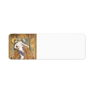 Robert Campin: Gold, silver and silk embroidery Return Address Label