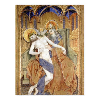 Robert Campin: Gold, silver and silk embroidery Postcard