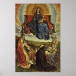 Robert Campin - Holy Virgin in Glory Print