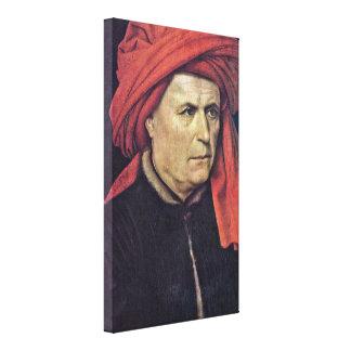 Robert Campin - John the Baptist and founder Canvas Prints