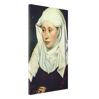 Robert Campin - Portrait of a Man Stretched Canvas Print