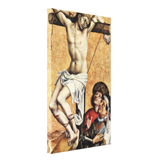 Robert Campin - The thief on the cross Gesinas Canvas Print