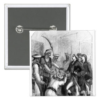 Robert Clive  Receiving the 'Diwani'  of Bengal 2 Inch Square Button