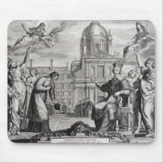 Robert de Sorbon  and Cardinal Richelieu Mouse Pad