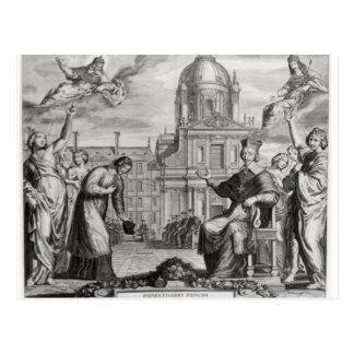 Robert de Sorbon  and Cardinal Richelieu Postcard