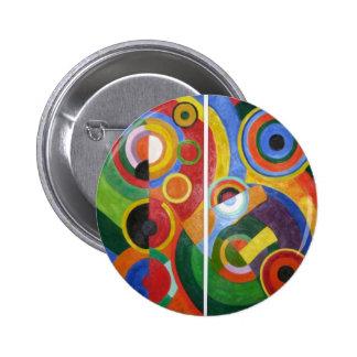 Robert Delaunay abstract art Button