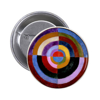 Robert Delaunay abstract art 2 Inch Round Button