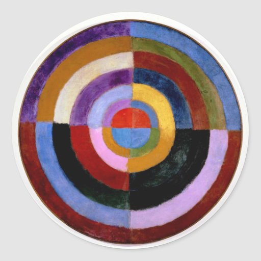 Robert Delaunay abstract art Classic Round Sticker
