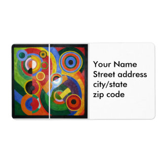 Robert Delaunay abstract art Personalized Shipping Label