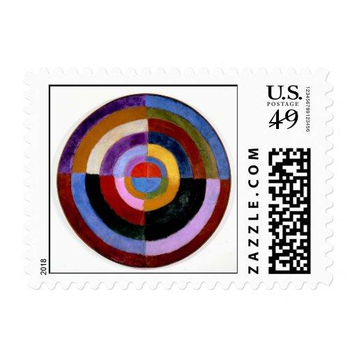 Robert Delaunay abstract art Postage Stamp