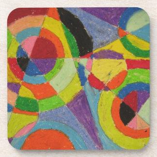 Robert Delaunay Color Explosion Coaster