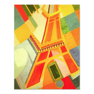 Robert Delaunay Eiffel Tower 4.25x5.5 Paper Invitation Card