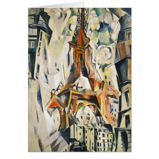 Robert Delaunay Eiffel Tower Note Card