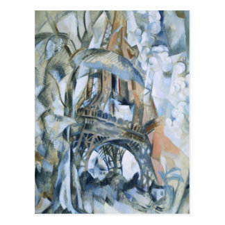Robert Delaunay - Eiffel Tower Postcard