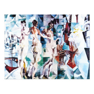Robert Delaunay The City of Paris Postcard