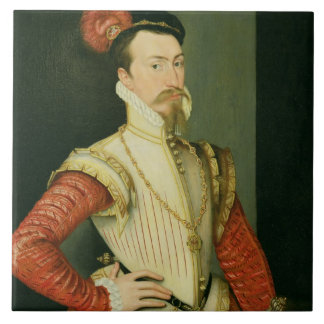 Robert Dudley (1532-88) 1st Earl of Leicester, c.1 Ceramic Tile