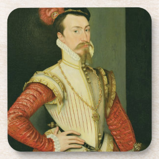 Robert Dudley (1532-88) 1st Earl of Leicester, c.1 Coaster