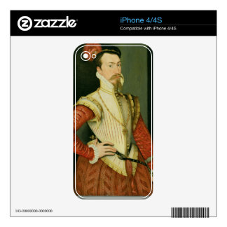 Robert Dudley (1532-88) 1st Earl of Leicester, c.1 iPhone 4 Decals