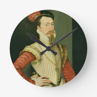 Robert Dudley (1532-88) 1st Earl of Leicester, c.1 Round Clock