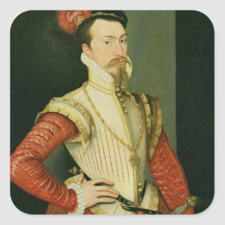 Robert Dudley (1532-88) 1st Earl of Leicester, c.1 Square Sticker