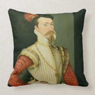 Robert Dudley (1532-88) 1st Earl of Leicester, c.1 Throw Pillow