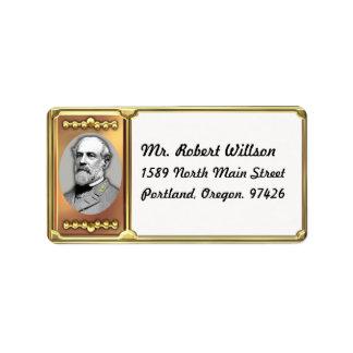 Robert E. Lee Address Label