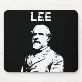 Robert E. Lee -- Black and White Mouse Pad