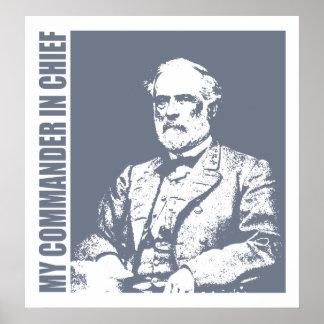 Robert E Lee (C in C) Poster